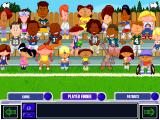 Backyard Football 2002 Windows Picking your players.