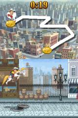 Go West: A Lucky Luke Adventure Nintendo DS Jump over manhole so you don't lose precious time while chasing Daltons.