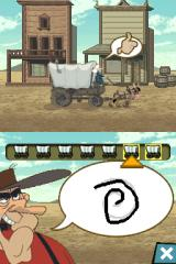 Go West: A Lucky Luke Adventure Nintendo DS Need to successfully draw the symbol to make the carriage move faster.