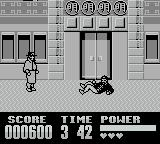 Darkman Game Boy The henchman gets knocked to the floor with a thud
