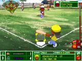 Backyard Baseball 2003 Windows The Big Freeze freezes the ball just before it crosses the home plate.