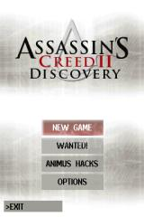 Assassin's Creed II: Discovery Nintendo DS Main menu.