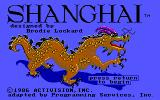 Shanghai DOS Title screen (Tandy/PCjr)