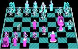 Battle Chess DOS The computer is thinking about its move. Wait... (CGA)
