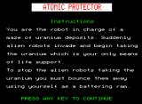 Atomic Protector BBC Micro Instructions