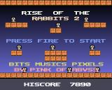 Rise of the Rabbits 2 Amiga Title screen