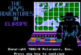 The Spy's Adventures in Europe Apple II Title screen (double hi-res)