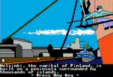 The Spy's Adventures in Europe Apple II Wandering around Helsinki (double hi-res)