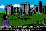The Spy's Adventures in Europe Apple II Stonehenge (standard hi-res)