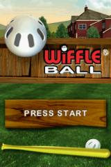 Wiffle Ball Nintendo DS Title screen