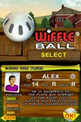 Wiffle Ball Nintendo DS Player stats