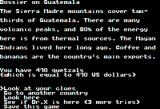 The Spy's Adventures in South America Apple II Some facts on the country (double hi-res)