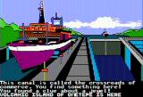 The Spy's Adventures in South America Apple II A clue at the Panama Canal (double hi-res)
