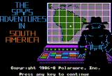 The Spy's Adventures in South America Apple II Title screen (standard hi-res mode)