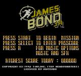 James Bond Jr NES Main Menu