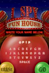 I Spy Fun House Nintendo DS Name entry