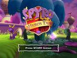 Spyro: A Hero's Tail PlayStation 2 Title screen