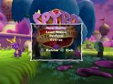 Spyro: A Hero's Tail PlayStation 2 Main menu