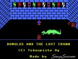 Bomulus and the Lost Crown MSX Title screen