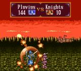 Gemfire SNES Battle animation Knights can't destroy magic shield