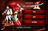 Samurai Shodown II iPhone Main menu.