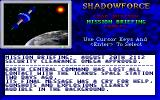 ShadowForce DOS Mission briefing (Rise of the Overlord).