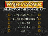Warhammer: Shadow of the Horned Rat Windows 3.x Main menu