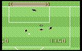 Supercup Football Commodore 64 Goal mouth action.