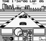 Nakajima Satoru Kanshū F-1 Hero GB Game Boy No more rain. That weird car will always appear when you finish the race. And about the trouble parts, who cares?