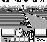 Nakajima Satoru Kanshū F-1 Hero GB Game Boy British GP. Ups, shit happens if you are not careful. (Btw, the ROM is all fu*ked up, it's impossible to take decent screenshots during races...).