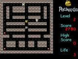 PacMania II Windows Advanced game level 2: there are enemies not affected by special pills.