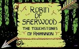 Robin of Sherwood: The Touchstones of Rhiannon Commodore 64 Title Screen.