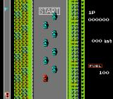 Road Fighter NES This is the starting line for the race during gameplay.