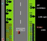 Road Fighter NES This is the 'demo' during gameplay for the race.