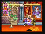 Fighter's History Dynamite Zeebo Clown uses a Spin Attack.