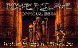 Powerslave (Official Beta Version) DOS Title screen.
