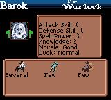 Heroes of Might and Magic Game Boy Color Enemy hero's stats