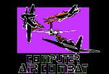 Computer Air Combat Apple II Game title.