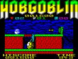 "Hobgoblin ZX Spectrum Stand on the rock and try to time your jumps to the arrows. Or, you could just walk below ""Robin Hood"" here."
