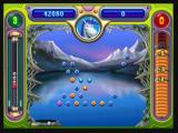 Peggle Zeebo Dropping the ball into the ball bucket earns you a free ball.