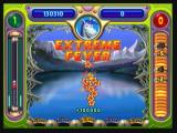 "Peggle Zeebo Hitting the last orange peg releases the ""extreme fever"". The ball will keep bouncing until it falls into one of the holes at the bottom of the screen, with different bonus points."