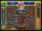"Peggle Zeebo Kat Tut is unlocked in Stage 3. His special power, ""Pyramid"", attaches an ancient pyramid to the ball bucket, giving it a larger surface for the ball to bounce."