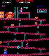 Donkey Kong Arcade Use the hammer to smash the barrels that DK throws down