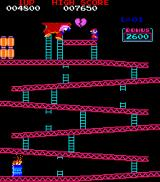 Donkey Kong Arcade ...but DK grabs Pauline and climbs further