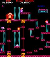 Donkey Kong Arcade The third screen involves conveyors and pulleys and other construction site things