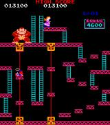 Donkey Kong Arcade Unlike nowadays, Mario can't jump from heights