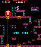 Donkey Kong Arcade Game over
