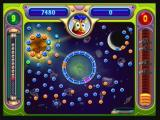 "Peggle Zeebo Master Hu is the last character to be unlocked (in level 11). His special power, the ""Zen Ball"", goes through blue balls, bouncing only on orange pegs."