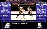 MicroLeague Wrestling Commodore 64 Good punch by Savage.