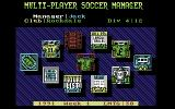 Multi-Player Soccer Manager Commodore 64 Main Menu.